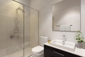 21 Lutwyche render of a bathroom in one of the apartments