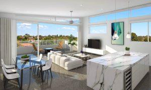 Ascot farm apartments in brisbane - penthouse kitchen