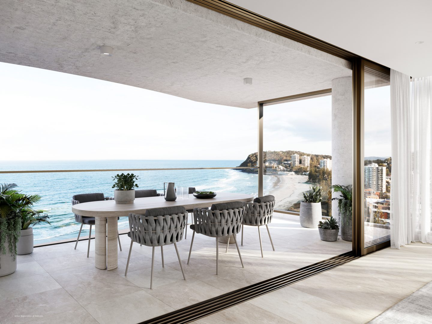 Natura Balcony and View (render supplied by the developer)