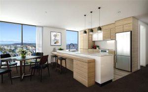 Bridges Apartments Brisbane - Sample Kitchen