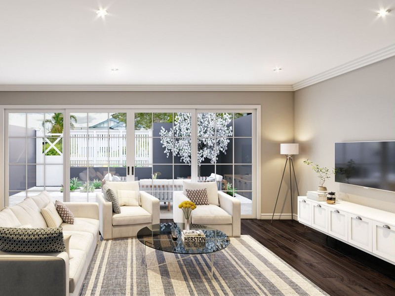 Ciel Residences Townhouse living room + courtyard