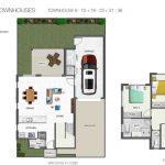 Everton Breeze double storey town house floor plan