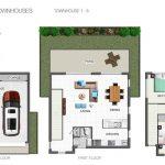 Everton Breeze front single townhouse floor plan