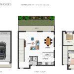Everton Breeze triple storey townhouse floor plan