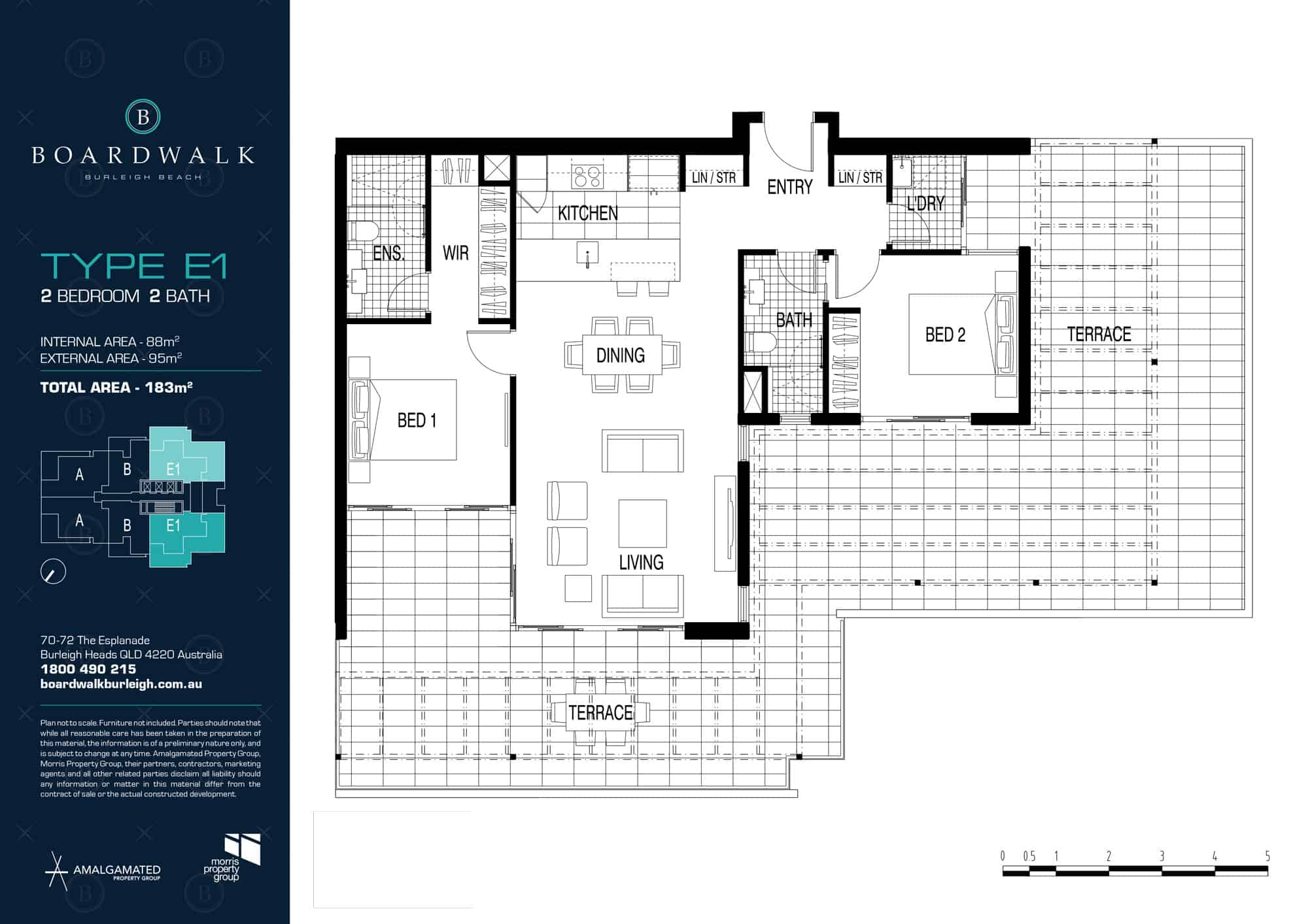 Broadwalk floor plan E1