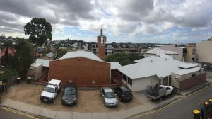 View over Oxley Lane, New Farm. Taken from the top level of an Oxley and Bowen townhome