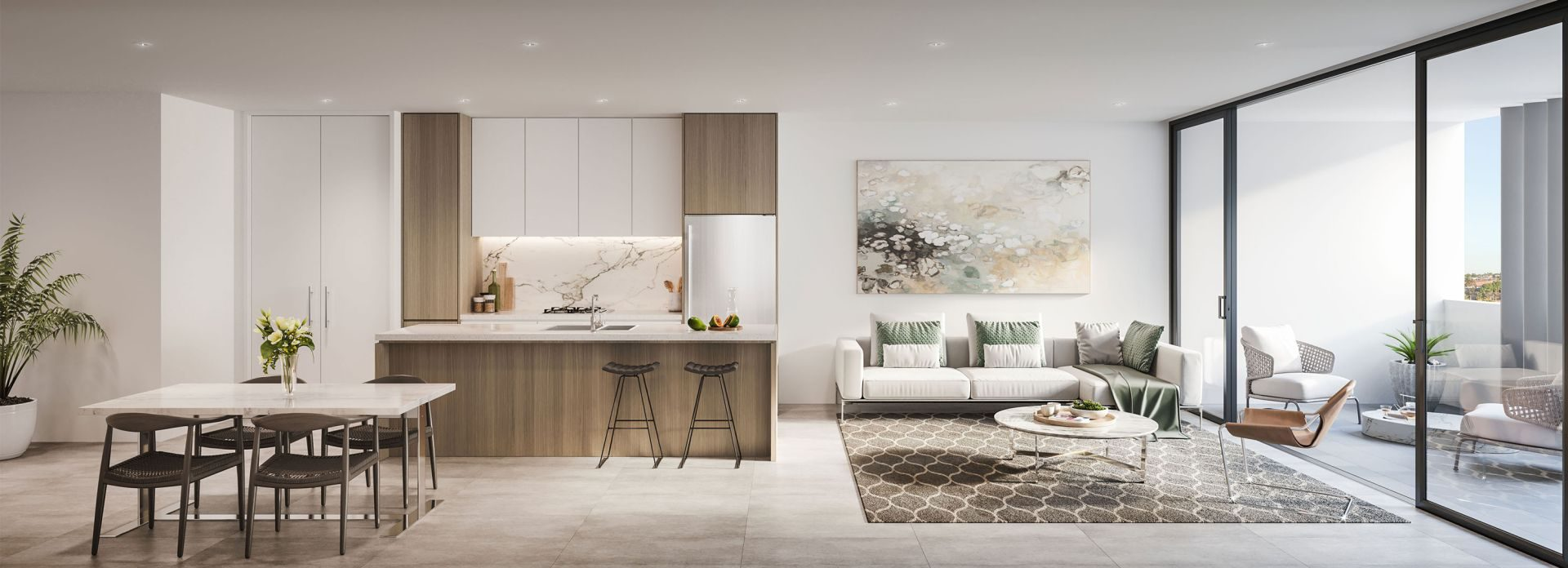 Kogarah Central apartments, living space