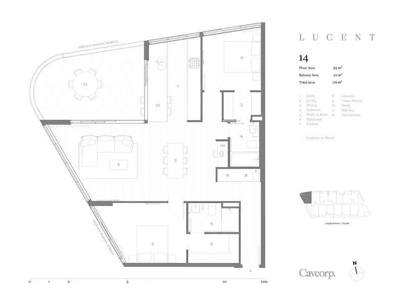 Lucent Apartments Newstead Floor Plan 14