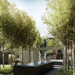 Luxe apartments and townhouses gardens