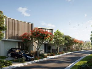 Lyra Hope Island Street View (render supplied by McGrath Projects QLD)