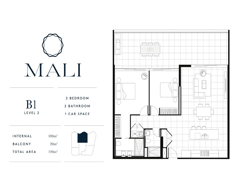 Mali Residences Mermaid Beach Floor Plan B1