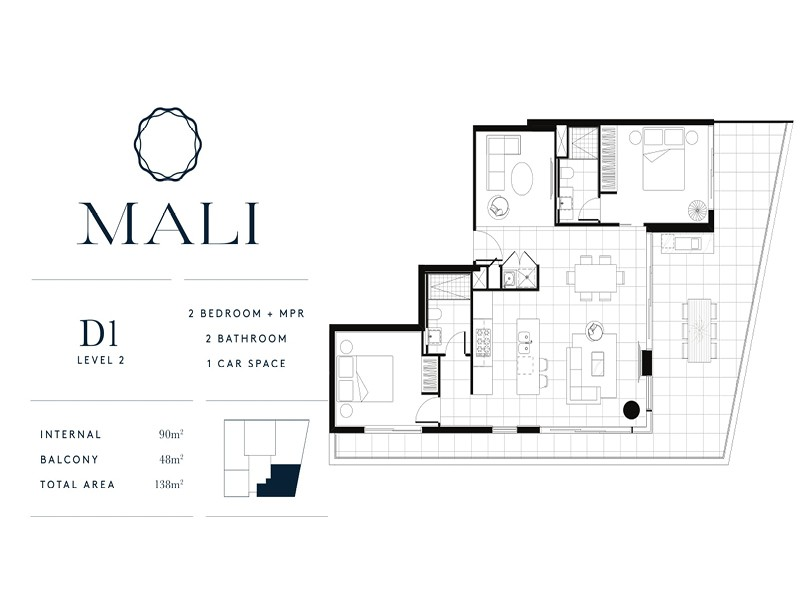 Mali Residences Mermaid Beach Floor Plan D1