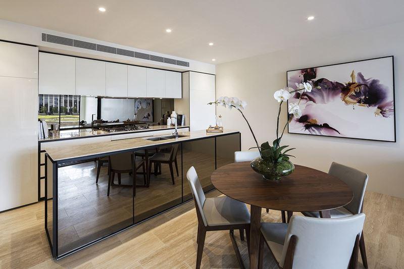 Marina Concourse Finished Apartment Kitchen