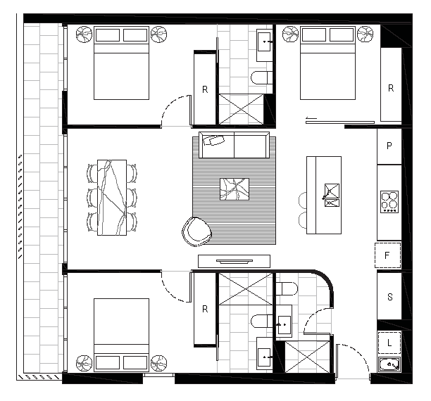 On Forbes Floorplan 3B