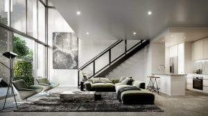 Seventy One Living Area render