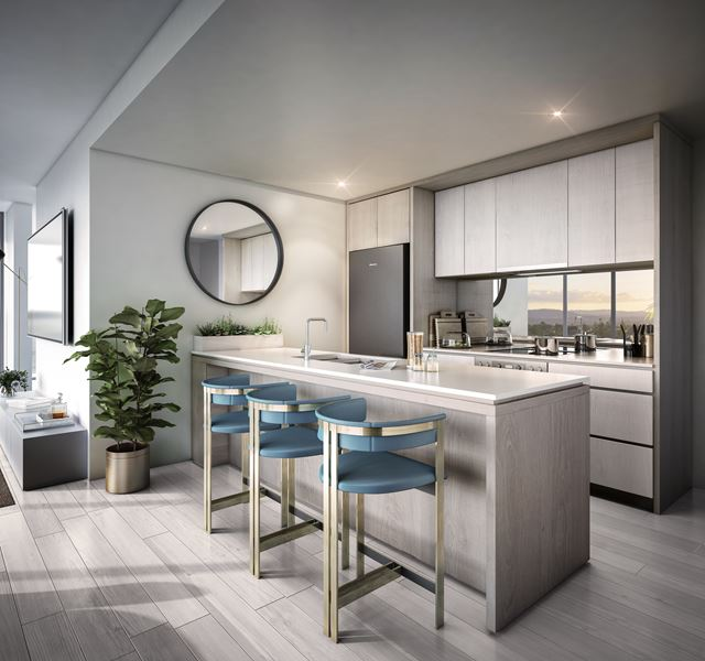 Stanhill Chevron Island Kitchen (render supplied by Marquee Development Partners)