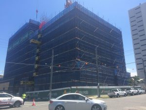 Construction Update for The Duke apartments in Kangaroo Point