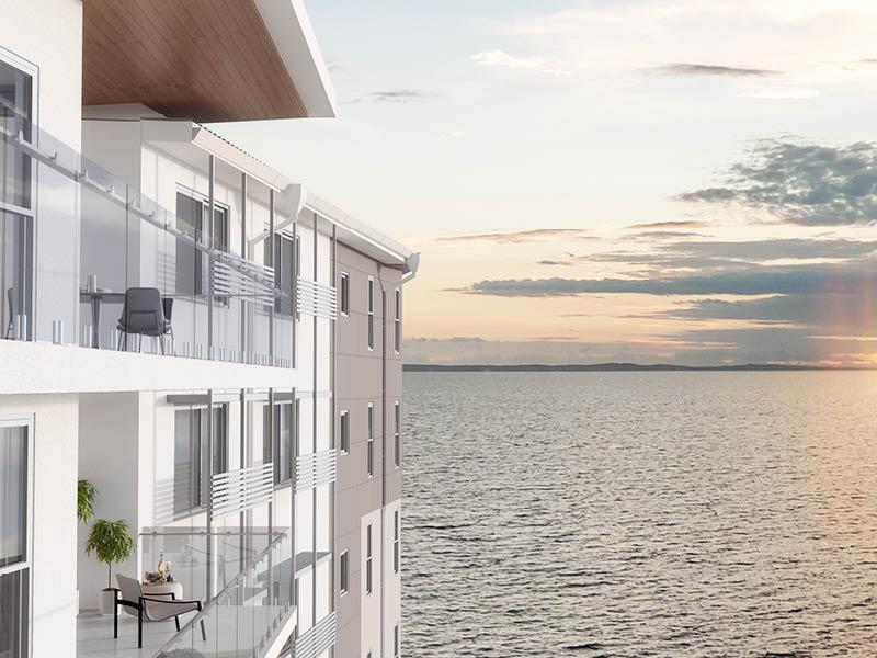 The VUE apartments Scarborough ocean view. Render by Develop2U.