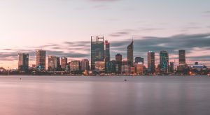Perth city view from water